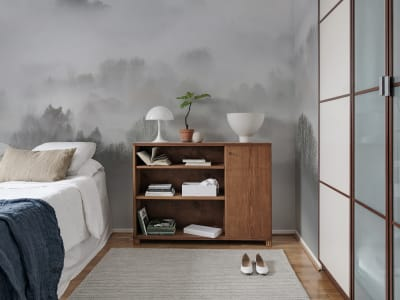 Mural de pared R15301 Morning Fog imagen 1 por Rebel Walls