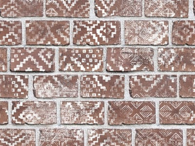 Fototapet R15231 Decorated Bricks, Red billede 1 af Rebel Walls