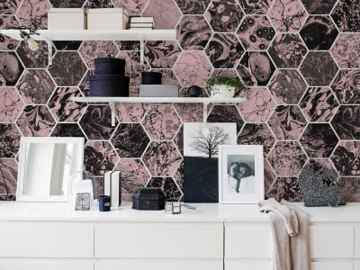 Wall Mural R15402 Mixed Memories, dusty pink image 1 by Rebel Walls
