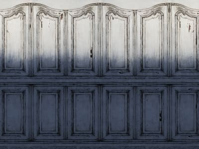 Wall Mural R15602 PARISIAN PANELS, DIP DYE BLUE image 1 by Rebel Walls