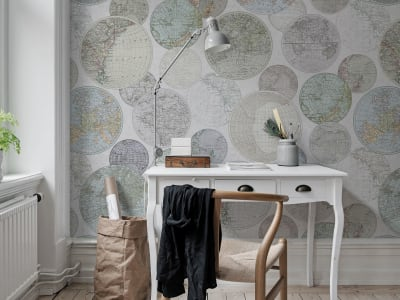Wall Mural R13884 GLOBES GATHERING, DEW image 1 by Rebel Walls