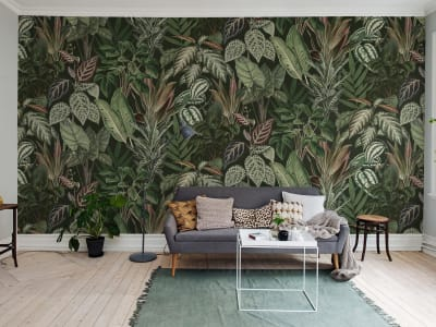 Mural de pared R14592 MISCHIEVOUS MONKEYS, LUSH imagen 1 por Rebel Walls