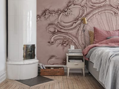 Mural de pared R15483 STUCCO GLORIA, DUSTY PINK imagen 1 por Rebel Walls