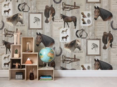Wall Mural R15551 HORSE MANIA image 1 by Rebel Walls