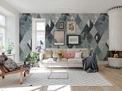 Wall Mural R15572 BIG HARLEQUIN, BREEZE image 1 by Rebel Walls