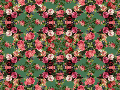 Fototapet R15711 Floral Frida, Garden imagine 1 de Rebel Walls