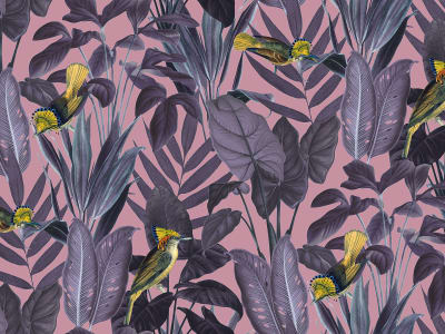 Wall Mural R15732 Yellow Bird, Dusk image 1 by Rebel Walls