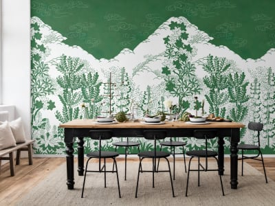 Mural de pared R15721 Eden, Green imagen 1 por Rebel Walls