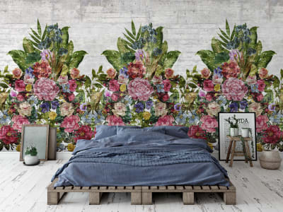 Фотообои R15762 Flower Burst, Concrete изображение 1 от Rebel Walls