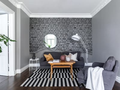Murale R12224 Well-Worn Brick Wall, white ​​immagine 1 di Rebel Walls