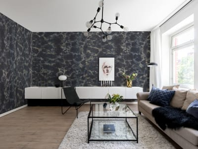 Wall Mural R12571 Flow, Dark Blue image 1 by Rebel Walls