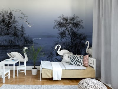 Tapet R16222 Swan Lake, Nightfall bilde 1 av Rebel Walls