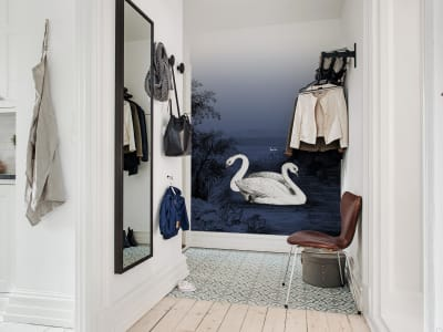 Tapete R16222 Swan Lake, Nightfall Bild 1 von Rebel Walls