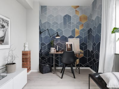 Mural de pared R16291 Gradient Geometry imagen 1 por Rebel Walls