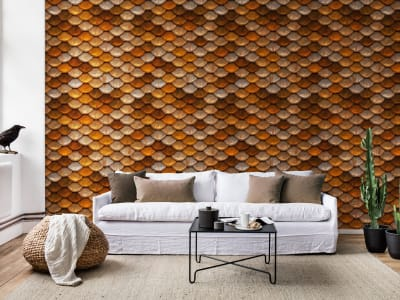 Murale R12441 Golden Flakes ​​immagine 1 di Rebel Walls