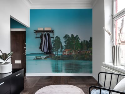 Mural de pared R16331 Cottage Island imagen 1 por Rebel Walls