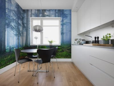 Wall Mural R16661 Blue Forest image 1 by Rebel Walls