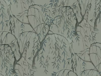 ミューラル壁紙 R16772 Weeping Willows, Jade 画像 1 by Rebel Walls