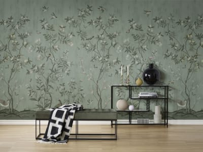 Mural de pared R16742 Chinoiserie Chic, Jade imagen 1 por Rebel Walls