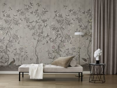 ミューラル壁紙 R16743 Chinoiserie Chic, Powder Beige 画像 1 by Rebel Walls