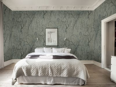 Mural de pared R16772 Weeping Willows, Jade imagen 1 por Rebel Walls