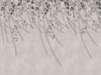 ミューラル壁紙 R16782 Lush Foliage, Rose Dust 画像 1 by Rebel Walls