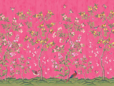 Mural de pared R16746 Chinoiserie Chic, Fuchsia imagen 1 por Rebel Walls