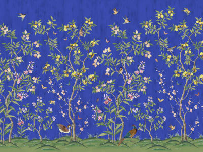 Mural de pared R16747 Chinoiserie Chic, Cobalt imagen 1 por Rebel Walls