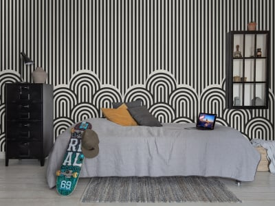 Mural de pared R16873 Hilltops, Graphic imagen 1 por Rebel Walls