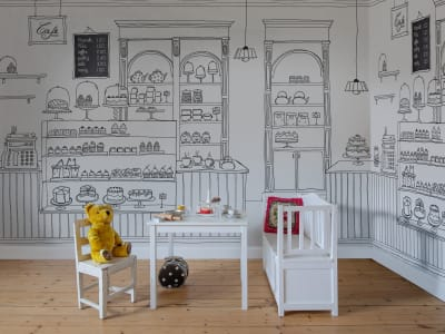 Mural de pared R16861 Le Petit Patisserie imagen 1 por Rebel Walls