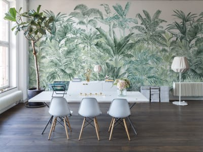 Murale R15902 Pride Palms, Emerald ​​immagine 1 di Rebel Walls