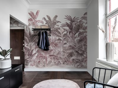 ミューラル壁紙 R15903 Pride Palms, Plum 画像 1 by Rebel Walls