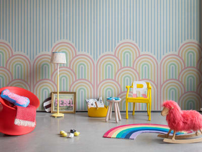 Mural de pared R16872 Hilltops, Rainbow imagen 1 por Rebel Walls