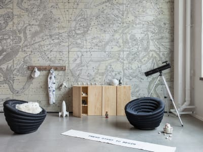 Mural de pared R16922 Star Map, White imagen 1 por Rebel Walls
