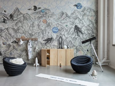 Mural de pared R16891 Moon Rock imagen 1 por Rebel Walls
