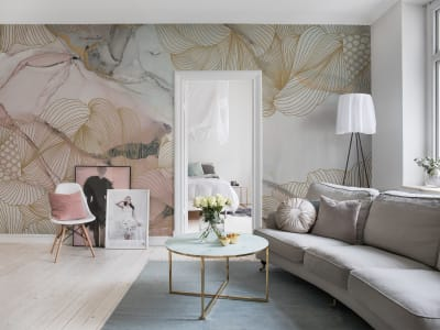Wall Mural R17092 Opulence, Pink Marble image 1 by Rebel Walls