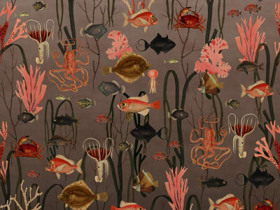 ミューラル壁紙 R17142 Aquatic Life, Coral 画像 1 by Rebel Walls