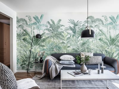 Mural de pared R15902 Pride Palms, Emerald imagen 1 por Rebel Walls