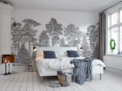 Mural de pared R17201 Scandinavian Bellewood, Gray imagen 1 por Rebel Walls