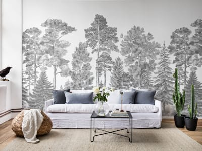 Tapeta ścienna R17201 Scandinavian Bellewood, Gray obraz 1 od Rebel Walls