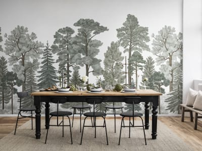 Mural de pared R17202 Scandinavian Bellewood, Frost imagen 1 por Rebel Walls