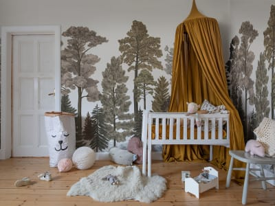 ミューラル壁紙 R17205 Scandinavian Bellewood, Fall 画像 1 by Rebel Walls