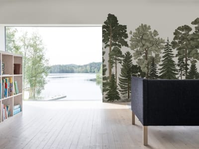 Mural de pared R17204 Scandinavian Bellewood imagen 1 por Rebel Walls