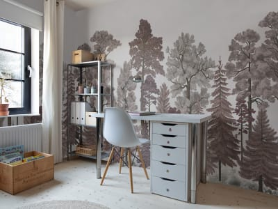 Mural de pared R17203 Scandinavian Bellewood, Dawn imagen 1 por Rebel Walls