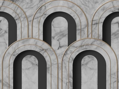 Mural de pared R16103 Arch Deco, Marble imagen 1 por Rebel Walls