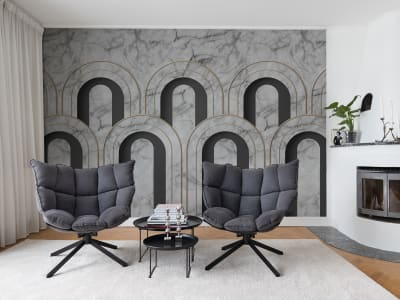 Wall Mural R16103 Arch Deco, Marble image 1 by Rebel Walls