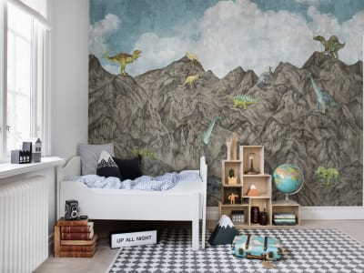 Mural de pared R16994 Dinosaur Mountain, Day imagen 1 por Rebel Walls