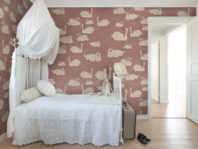 Tapet R17122 Cygne, Rose bilde 1 av Rebel Walls