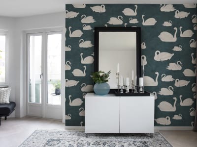 Wall Mural R17123 Cygne, Bleu image 1 by Rebel Walls