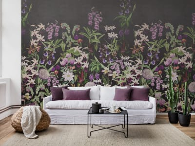 Tapete R17163 Alice's Garden, Midnight Bild 1 von Rebel Walls